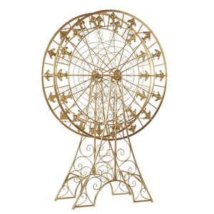 Christmas Gold Metallic Ferris Wheel