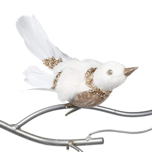 Christmas Jewel Bird Clip Ornament