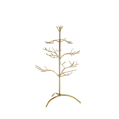 Christmas Metal Twig Display Tree - Gold