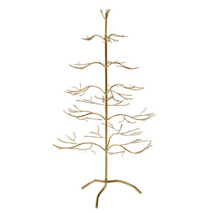 Christmas Metal Twig Display Tree - Gold 93cm