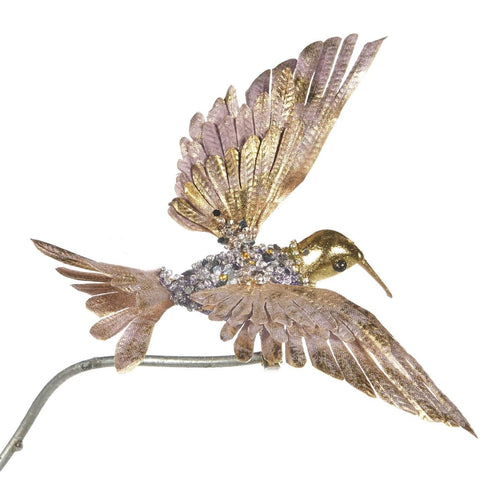 Christmas Metallic Jewel Hummingbird Clip Ornament
