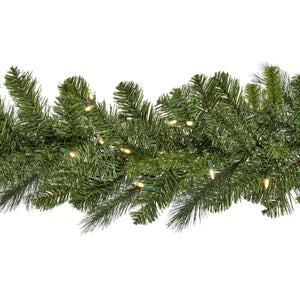 Christmas Pine Garland with LED Lights - 180cm