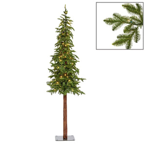 Christmas Pine Pencil Tree Display with LED Lights- 180cm