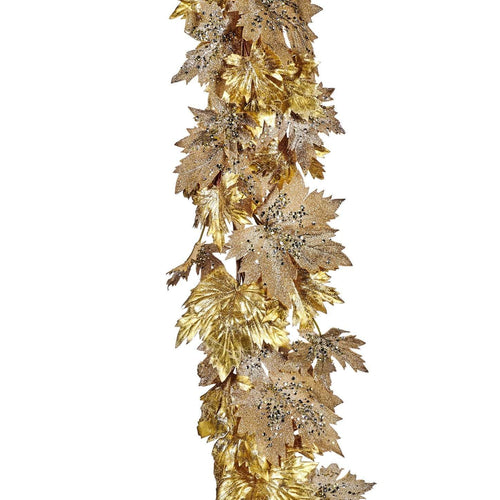 Christmas Sequin Maple Leaf Garland