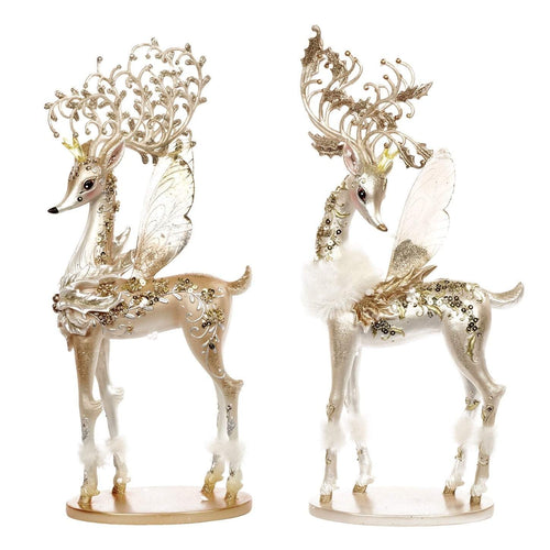 Christmas Sequined Fairy Deer Ornament