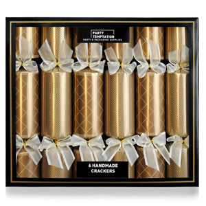 Christmas Deluxe Bronze Pave Crackers