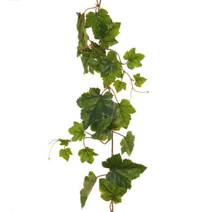 Faux Flower Grape Leaf Garland UV 152 cm