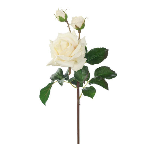 Faux Flower Rose Diana Ivory
