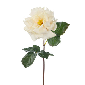 Faux Flower Rose Duchess Open Ivory