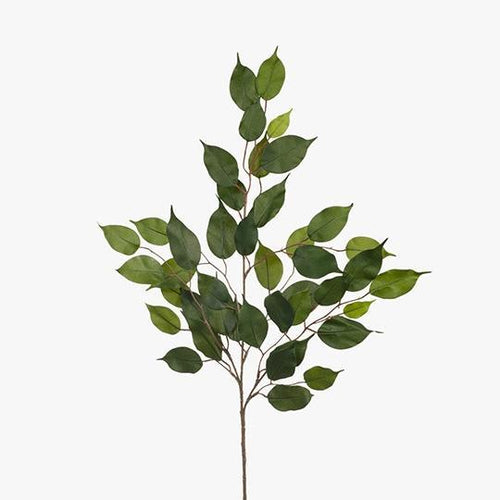 Faux Flower Ficus Leaf Spray