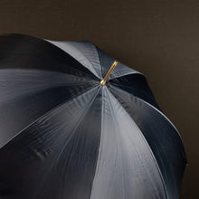 Load image into Gallery viewer, Pasotti Umbrella Black Chains Umbrella: Double Cloth with Swarovski Crystals
