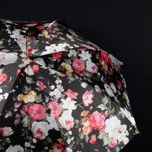 Pasotti Flowered Parasol with Bamboo Handle