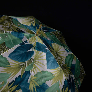 Pasotti Umbrella Green Tropical with Acetate Handle