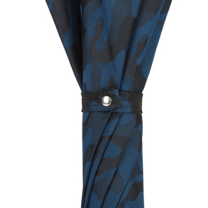 Pasotti Blue Camouflage Umbrella with Bamboo Handle
