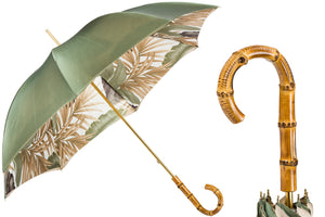 Pasotti Double Cloth Tropical Umbrella with Bamboo Handle