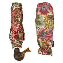 Load image into Gallery viewer, Pasotti Umbrella Pasotti Flowered Folding Umbrella with Duck Handle