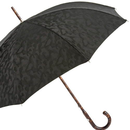 Pasotti Men's Black Camouflage Umbrella with Hickory Wood Handle