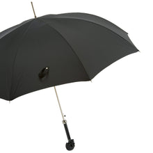 Load image into Gallery viewer, Pasotti Umbrella Pasotti Men's Black Umbrella with Black Skull Handle