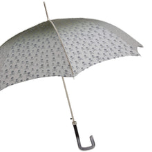 Load image into Gallery viewer, Pasotti Umbrella Pasotti Men's Grey Skull & Bones Umbrella with Acetate Handle