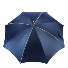 Load image into Gallery viewer, Pasotti Umbrella Pasotti Men's Navy and Silver Stud Umbrella with Silver Skull Handle