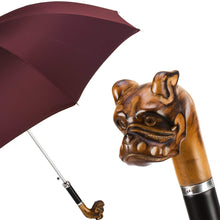 Load image into Gallery viewer, Pasotti Men's Umbrella Red with Bulldog Handle