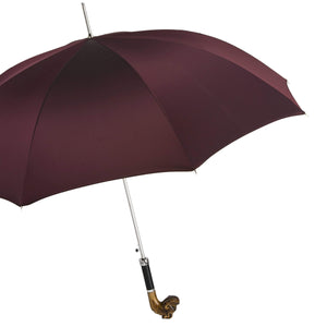 Pasotti Men's Umbrella Red with Bulldog Handle