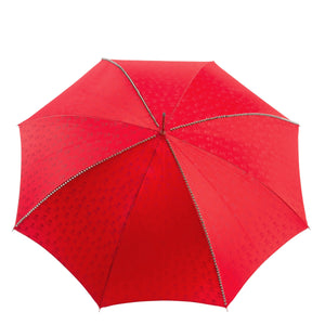 Pasotti Red Silver Stud Umbrella with Black Skull Handle