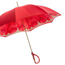 Load image into Gallery viewer, Pasotti Umbrella Pasotti Umbrella Red Dahlia with Acetate Handle