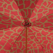 Load image into Gallery viewer, Pasotti Umbrella Pasotti Umbrella Red Giraffe Double Cloth with Brass Handle