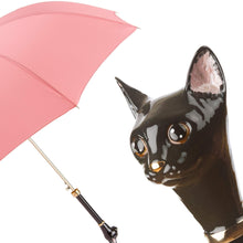 Load image into Gallery viewer, Pasotti Umbrella Pasotti Women's Pink Cat Umbrella