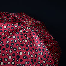 Load image into Gallery viewer, Pasotti Umbrella Pasotti Women's Umbrella Red Leopard with Acetate Handle