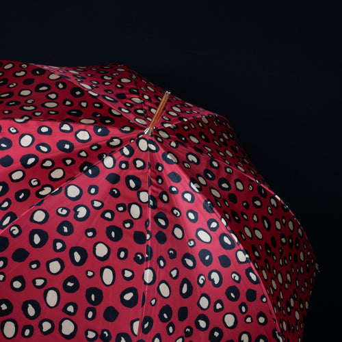 Pasotti Umbrella Red Leopard with Acetate Handle