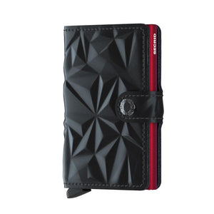 Secrid Mini Wallet- Prism Black-Red