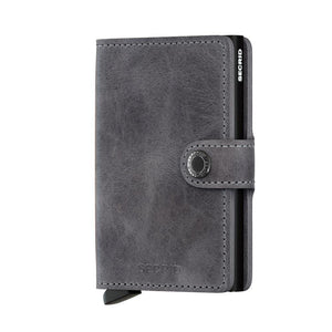 Secrid Mini Wallet- Vintage Grey-Black