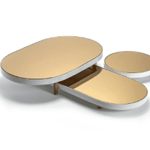 Load image into Gallery viewer, Serax: Studio Simple Tray Mirror Tray Oval Large Copper and White