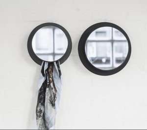 Coatrack Mirror Large Black