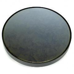 Mirror Tray Round Black