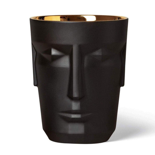 Sieger by Fürstenberg Prometheus Ice Bucket - Satin Black/Gold