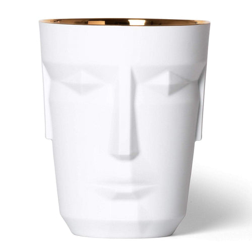 Sieger by Fürstenberg Prometheus Ice Bucket - Satin White/Gold