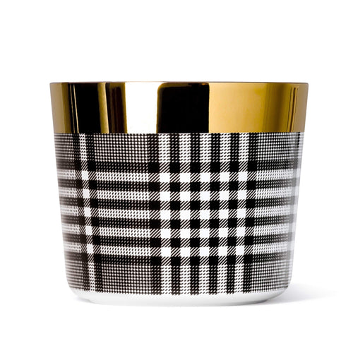Sieger by Fürstenberg SIP OF GOLD Tumbler in Glencheck Black and White
