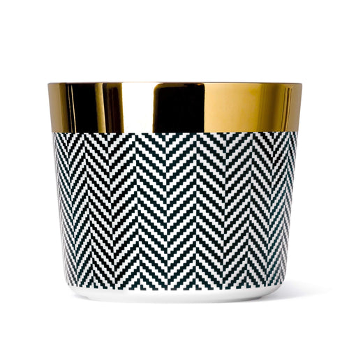Sieger by Fürstenberg SIP OF GOLD Tumbler or Goblet in Heringbone Black and White
