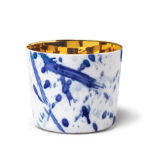 Load image into Gallery viewer, Sieger by Furstenburg General Sieger by Fürstenberg SIP OF GOLD Tumbler Drips in Blue and White