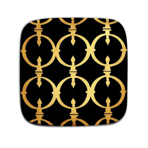 Sieger by Fürstenberg COASTER FER FORGÉ - Black with Gold Bold