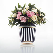 Load image into Gallery viewer, Sieger by Furstenberg Luna vase in medium with flowers