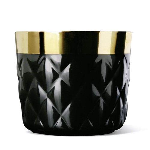 Sieger by Fürstenberg SIP OF GOLD Tumbler Cushion or Diamond in Black
