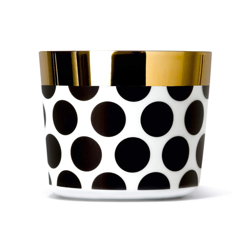 Sieger by Fürstenberg SIP OF GOLD Tumbler Polka Dots in Black on White