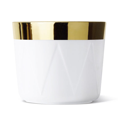 Sieger by Fürstenberg SIP OF GOLD Tumbler Trapeze or Drum in White