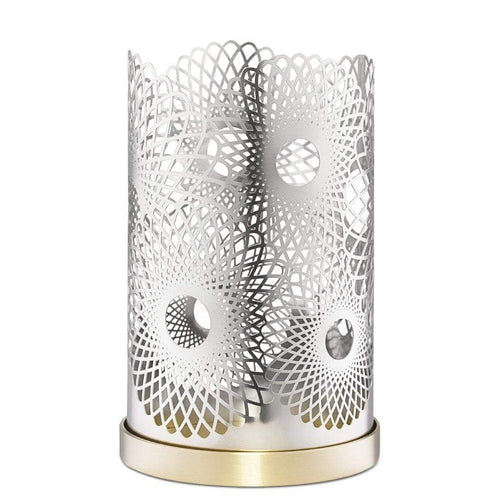 Skultuna Feather Silver Plated Candleholder