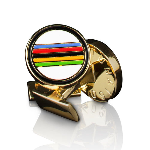 Skultuna Cuff Links - Gold Rainbow