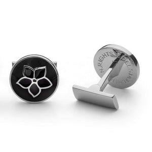 Cuff Links -Harald Edelstam for Human Rights: Silver and Black